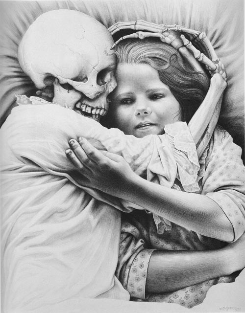 Death and the Maiden, by Laurie Lipton